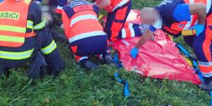 Nehoda nedaleko Dolní Lhoty si vyžádala těžké zranění motorkáře