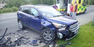 Ve Valašské Polance se střetla dvě osobní vozidla, jeden člověk byl zraněn