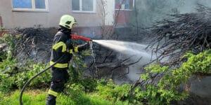 Z chlapcova zapalovače přeskočil plamínek ve Vsetíně na okrasné dřeviny
